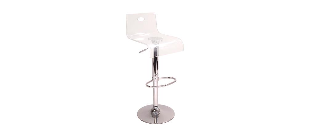 tabouret de bar plexiglas transparent saturne v2 miliboo. Black Bedroom Furniture Sets. Home Design Ideas