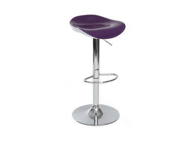 Tabouret de bar prune brillant SONEAR