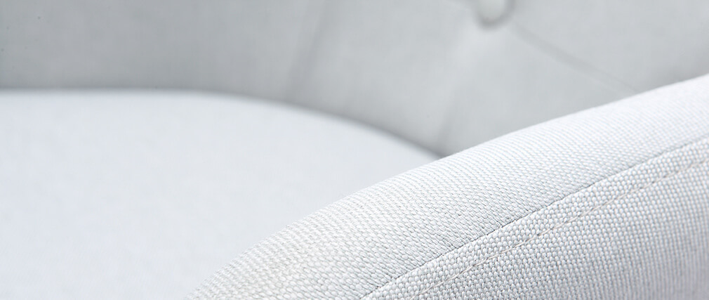 Tabouret de bar scandinave 75cm gris clair BALTIK