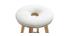 Tabouret de bar scandinave blanc et bois clair 65 cm NORDECO