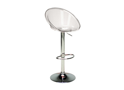 Tabouret de bar transparent MOPPY