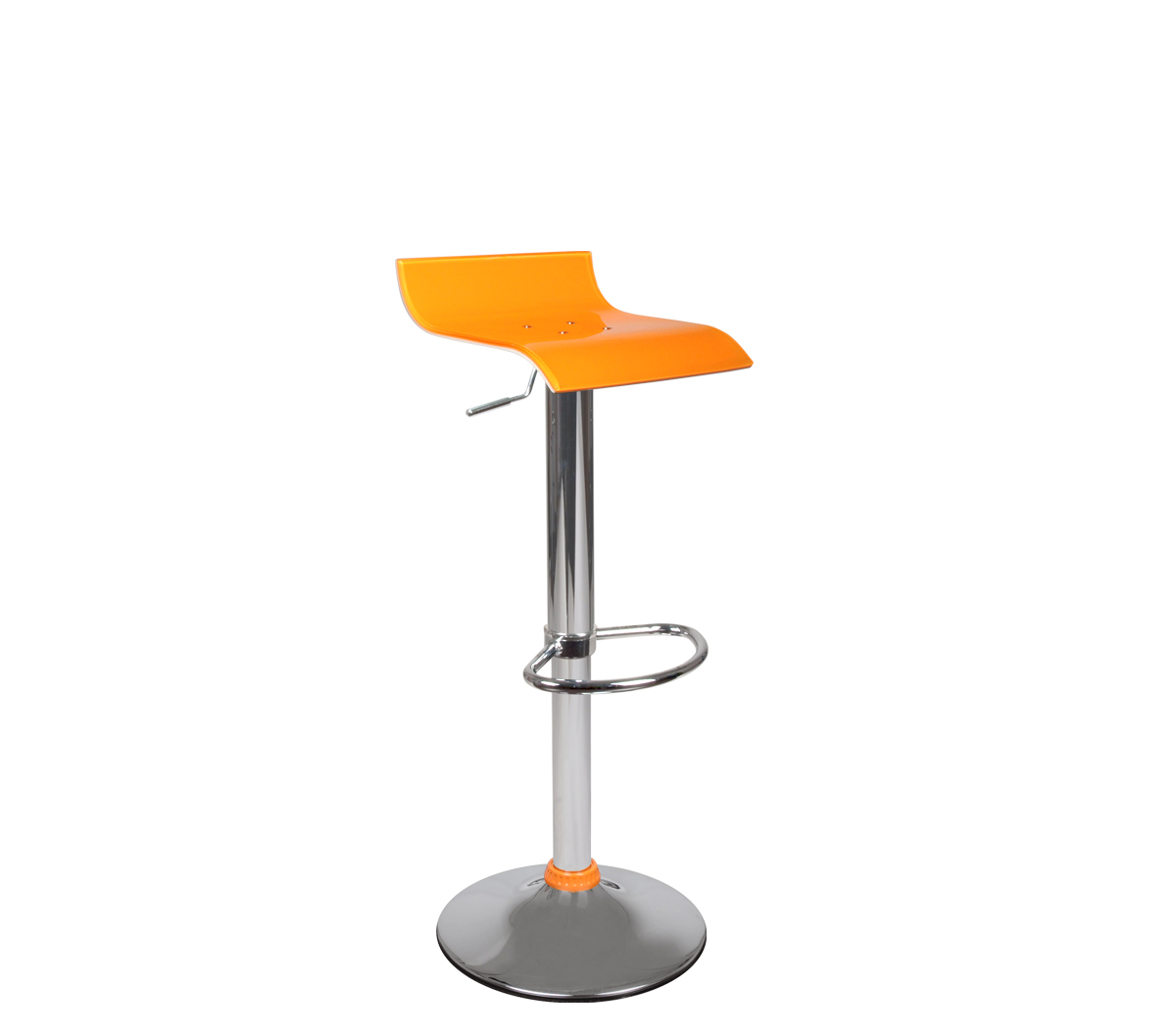 Tabouret de bar up to you design bicolore orange et blanc VEGA