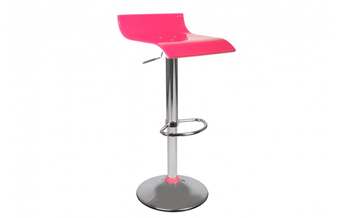tabouret de bar up to you design bicolore rose et blanc. Black Bedroom Furniture Sets. Home Design Ideas
