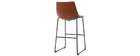 Tabouret de bar vintage PU marron clair 73 cm (lot de 2) NEW ROCK