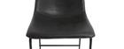 Tabouret de bar vintage PU noir 73 cm (lot de 2) NEW ROCK
