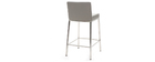Tabouret design 66 cm gris (lot de 2) EPSILON