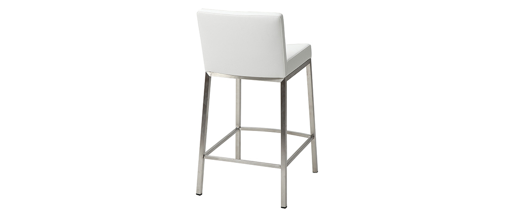 Tabouret design 66cm blanc (lot de 2) EPSILON