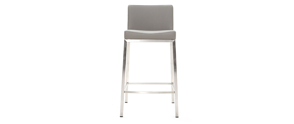 Tabouret design gris H66 cm (lot de 2) EPSILON