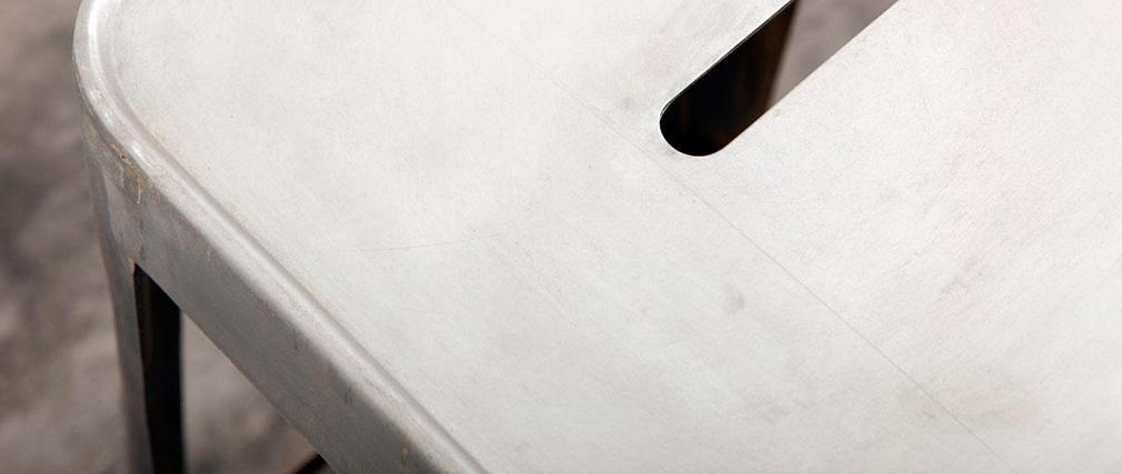 Tabouret design industriel métal vieilli FACTORY