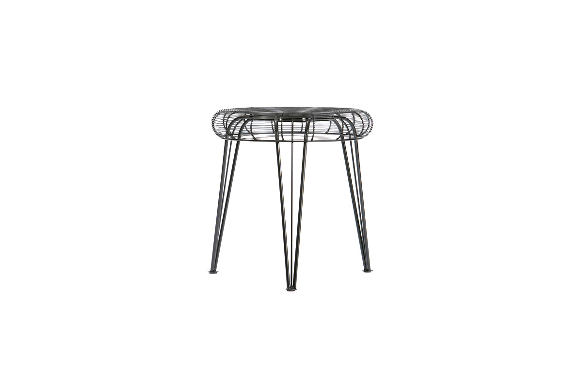 tabouret design m tal noir spyder miliboo. Black Bedroom Furniture Sets. Home Design Ideas