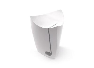 Tabouret design RECORD Blanc