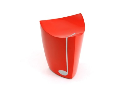 Tabouret design RECORD Rouge