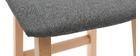 Tabourets de bar bois clair et tissu gris 72cm lot de 2 OSAKA