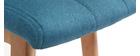 Tabourets de bar bois et bleu canard H65 cm (lot de 2) KLARIS