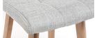 Tabourets de bar bois et gris perle H65 cm (lot de 2) KLARIS