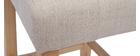 Tabourets de bar capitonnés beige naturel et bois H66 cm (lot de 2) ESTER