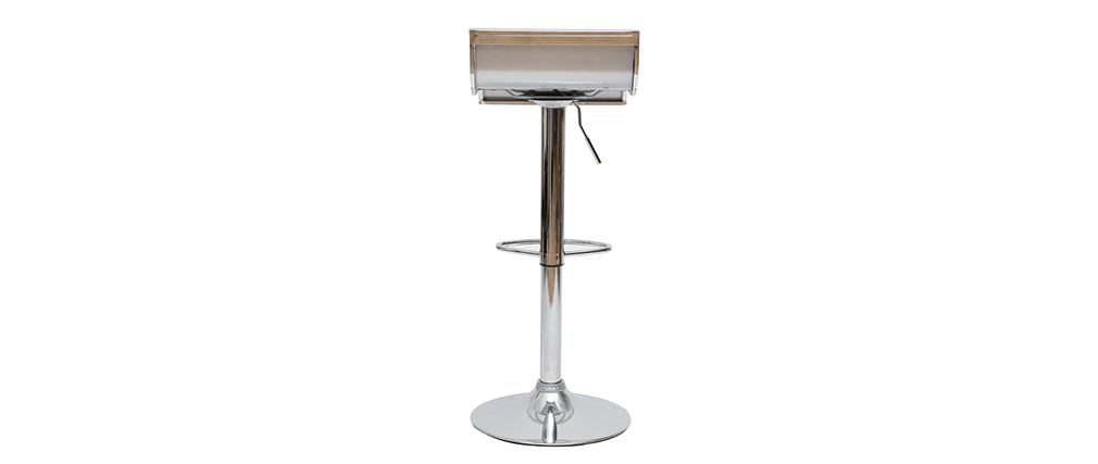 Tabourets de bar design argent WAVES (lot de 2)