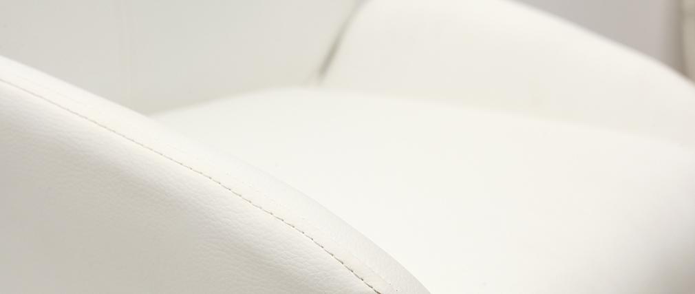 Tabourets de bar design blanc (lot de 2) ALEK