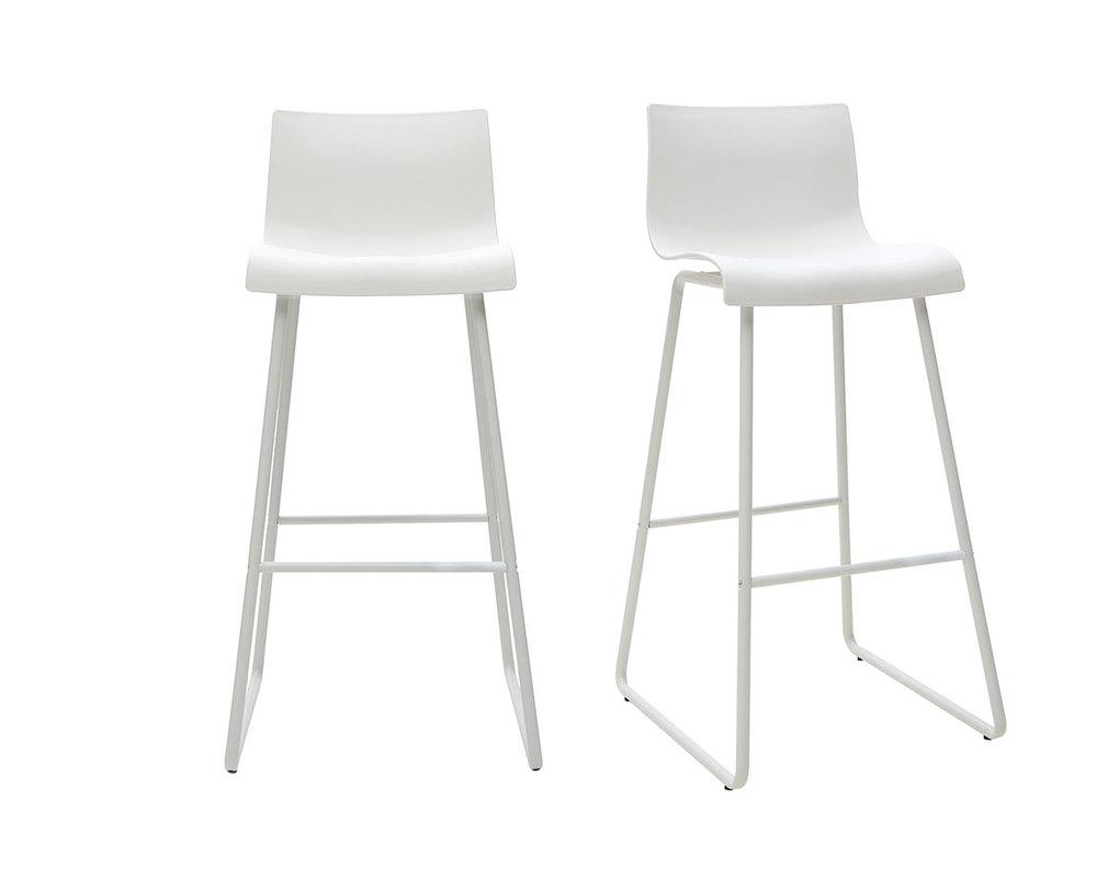 Tabourets de bar design blanc 76 cm (lot de 2) ONA