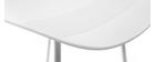 Tabourets de bar design blancs (lot de 2) ELLA