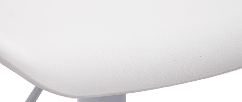 Tabourets de bar design blancs (lot de 2) KRONOS