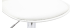 Tabourets de bar design blancs (lot de 2) STEEVY