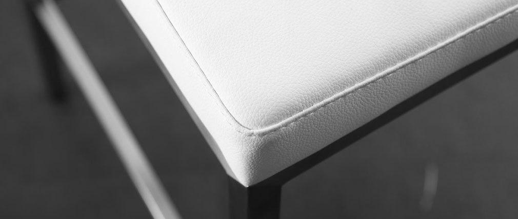 Tabourets de bar design blancs 76 cm EPSILON (lot de 2)