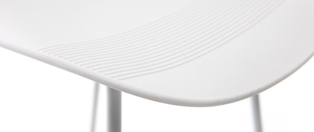 Tabourets de bar design blancs H71 cm (lot de 2) ELLA