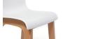 Tabourets de bar design bois et blanc 65 cm (lot de 2) NEW SURF