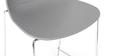 Tabourets de bar design empilables gris 76.5 cm (lot de 2) TROCADERO