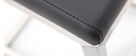 Tabourets de bar design en aluminium et PU noir (lot de 2) STELLAR