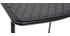 Tabourets de bar design en métal noir avec coussin 65 cm (lot de 2) FEELING