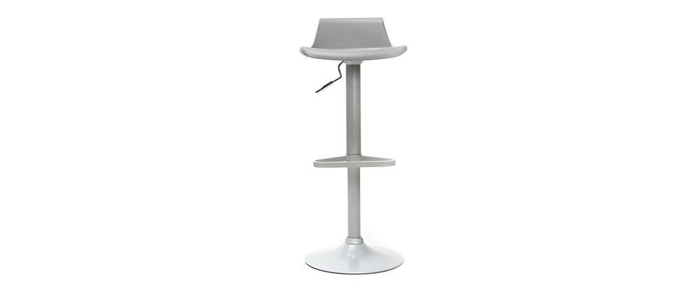 Tabourets de bar design gris (lot de 2) KRONOS