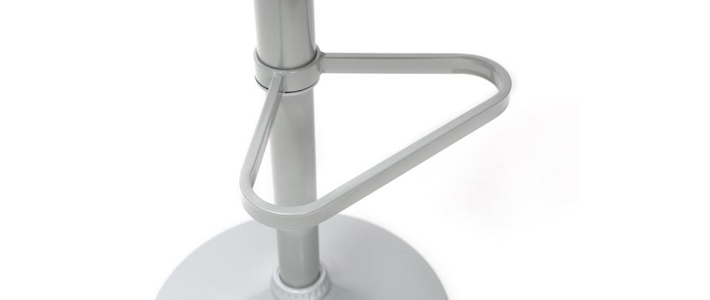 Tabourets de bar design gris (lot de 2) KRONOS