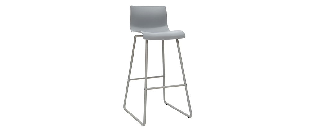 Tabourets de bar design gris 76 cm (lot de 2) ONA