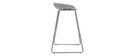 Tabourets de bar design gris avec pieds en métal (lot de 2) PEBBLE