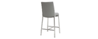 Tabourets de bar design gris clair 66 cm (lot de 2) OLLY