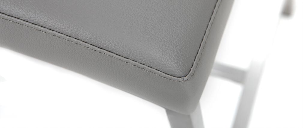 Tabourets de bar design gris clair H66 cm (lot de 2) OLLY