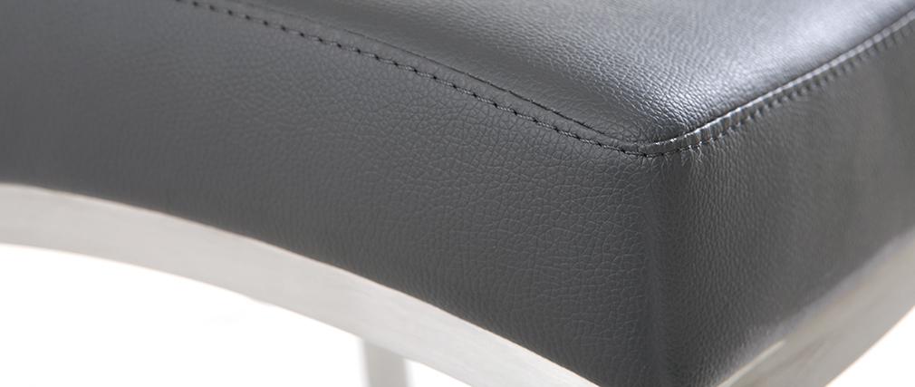 Tabourets de bar design gris foncé H66 cm (lot de 2) OLLY