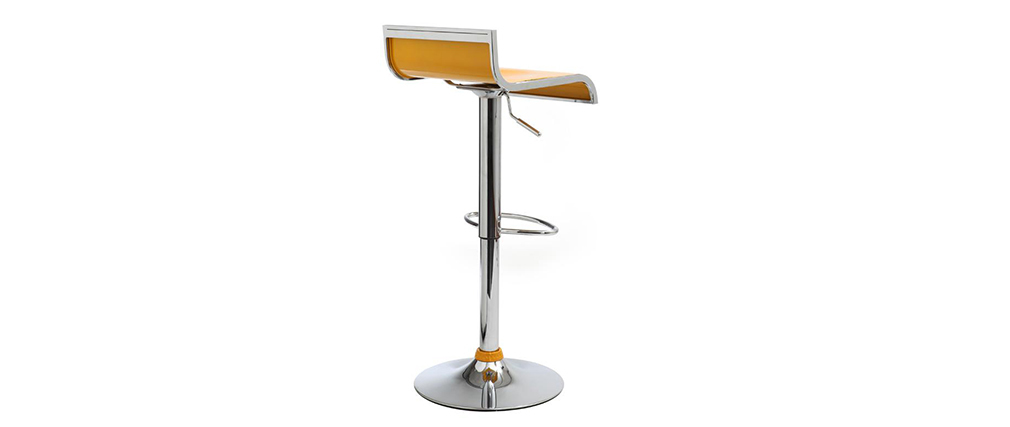 Tabourets de bar design jaunes WAVES (lot de 2)