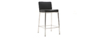 Tabourets de bar design métal et noir 66 cm (lot de 2) EPSILON