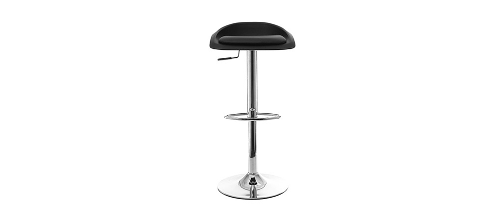 Tabourets de bar design noir (lot de 2) SYRIUS