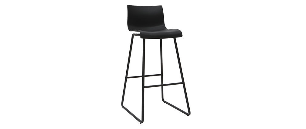 Tabourets de bar design noir 76 cm (lot de 2) ONA