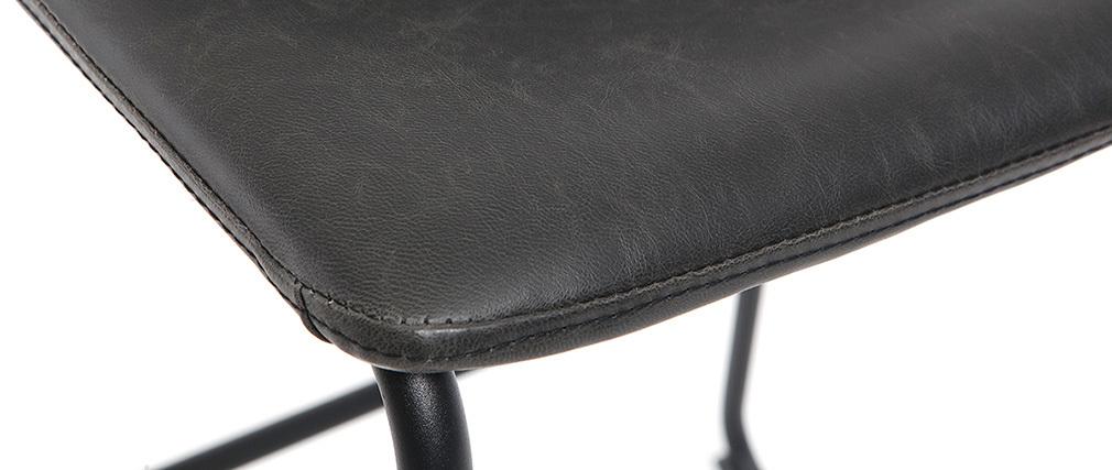 Tabourets de bar design noir H61 cm (lot de 2) NEW ROCK