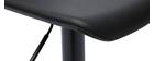 Tabourets de bar design noirs (lot de 2) KRONOS