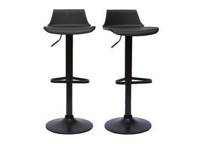 Lot Tabouret De Bar.Tabourets De Bar Design Noirs Lot De 2 Kronos