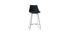 Tabourets de bar design noirs 65 cm (lot de 2) JUNE