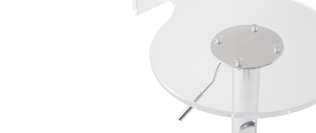 Tabourets de bar design plexiglas transparent (lot de 2) ORION