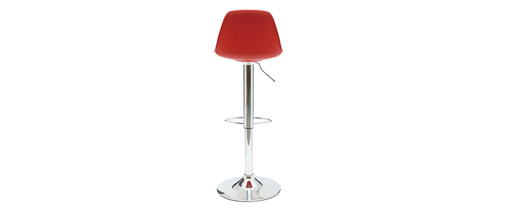 Tabourets de bar design rouge et noir (lot de 2) STEEVY