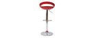 Tabourets de bar design rouges COMET (lot de 2)